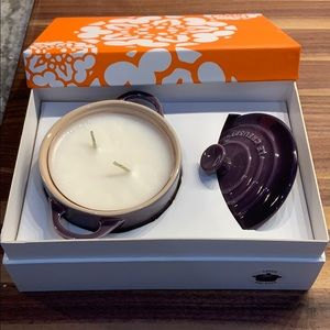 Le Creuset Cassis and Basil Mini Cocotte Candle